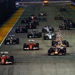 2015 Singapore GP going to 1st corner