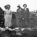 Middle Farm after the fire in 1934.