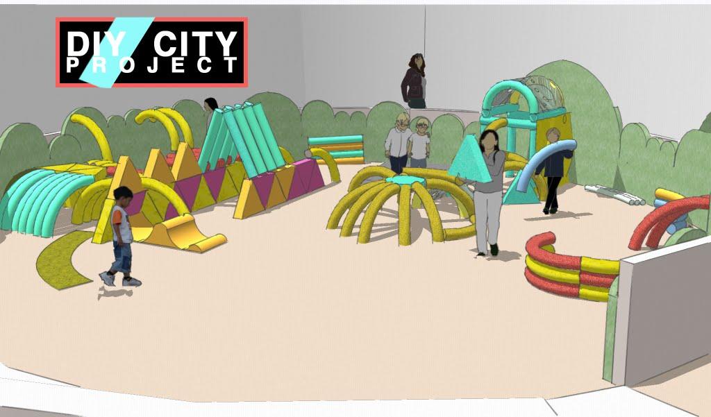Excerpt from exhibit proposal for Children's Museum: Zeum, San Francisco, CA - In progress, Sketchup Pro rendering