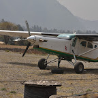 Lukla airfield - but planes are not flying today due to fog