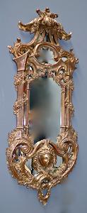 Пара настенных зеркал 18-й век. Дерево, резьба, позолота. 44/120 см. 5900 евро.