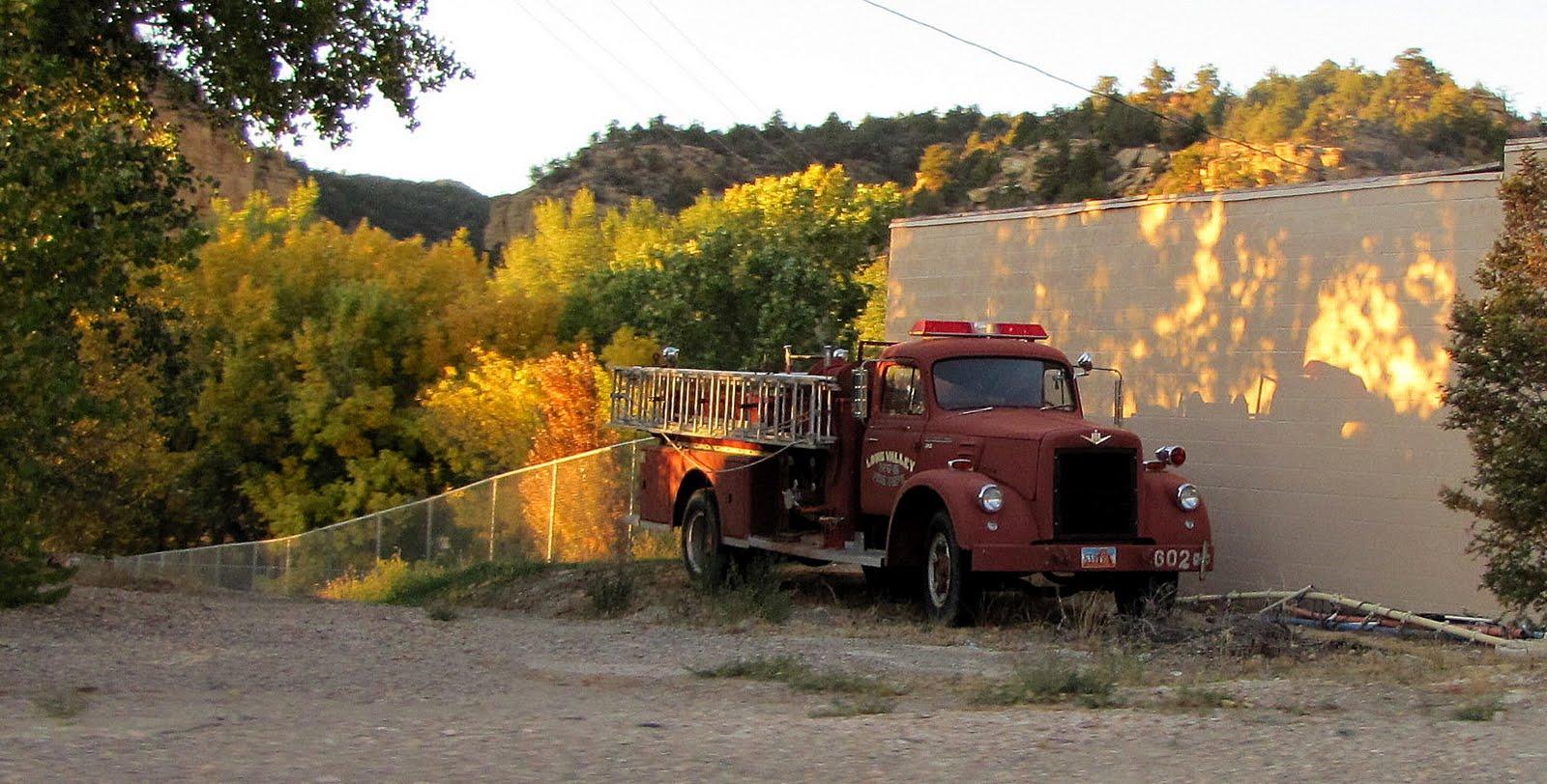 Old Fire-engine, Utah, 1955 International V220 Fire Engine