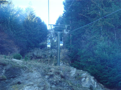 The view up the hillside for Skyline Gondolas
