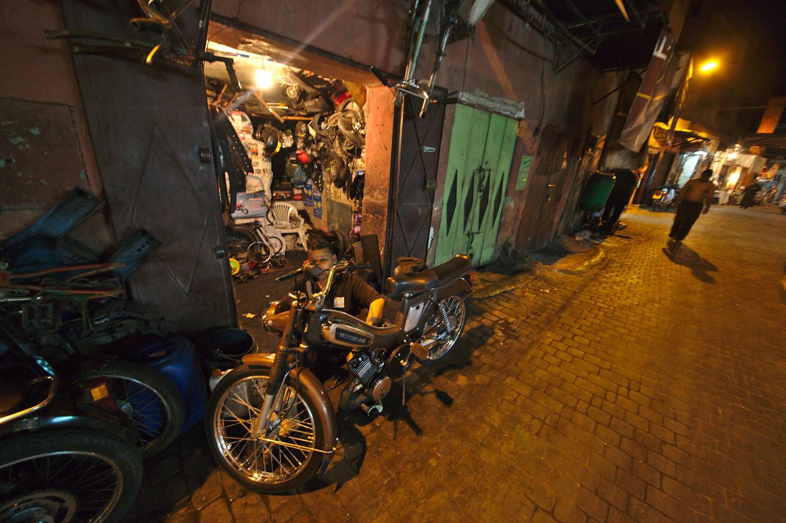 Motorcycle repair in Marrakech