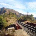 Toy train track near Sunrise Villa