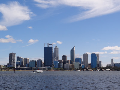 Perth City from the South side of the river