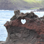 A heart-shaped hole near Nakalele Blowhole