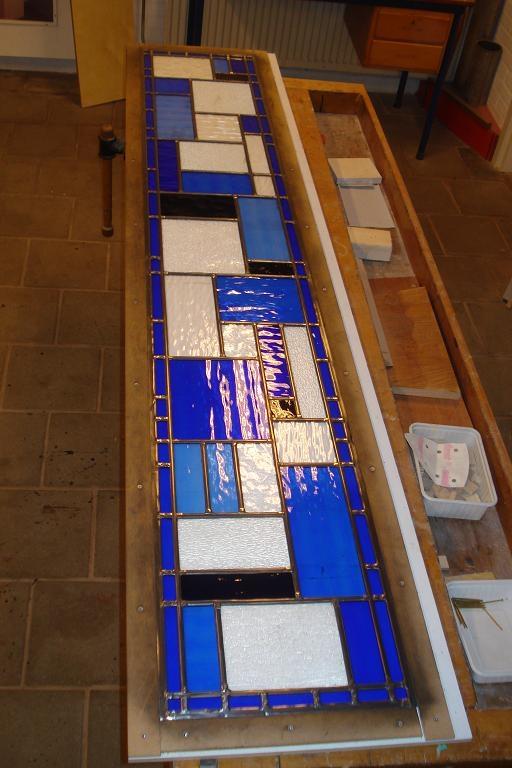 Detail glas in lood entree