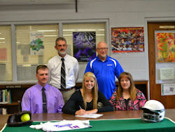 Brienna Sparks Signing to Bluefield College, Bluefield, VA, with her parent