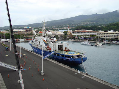 The view of Papeete from our balcony