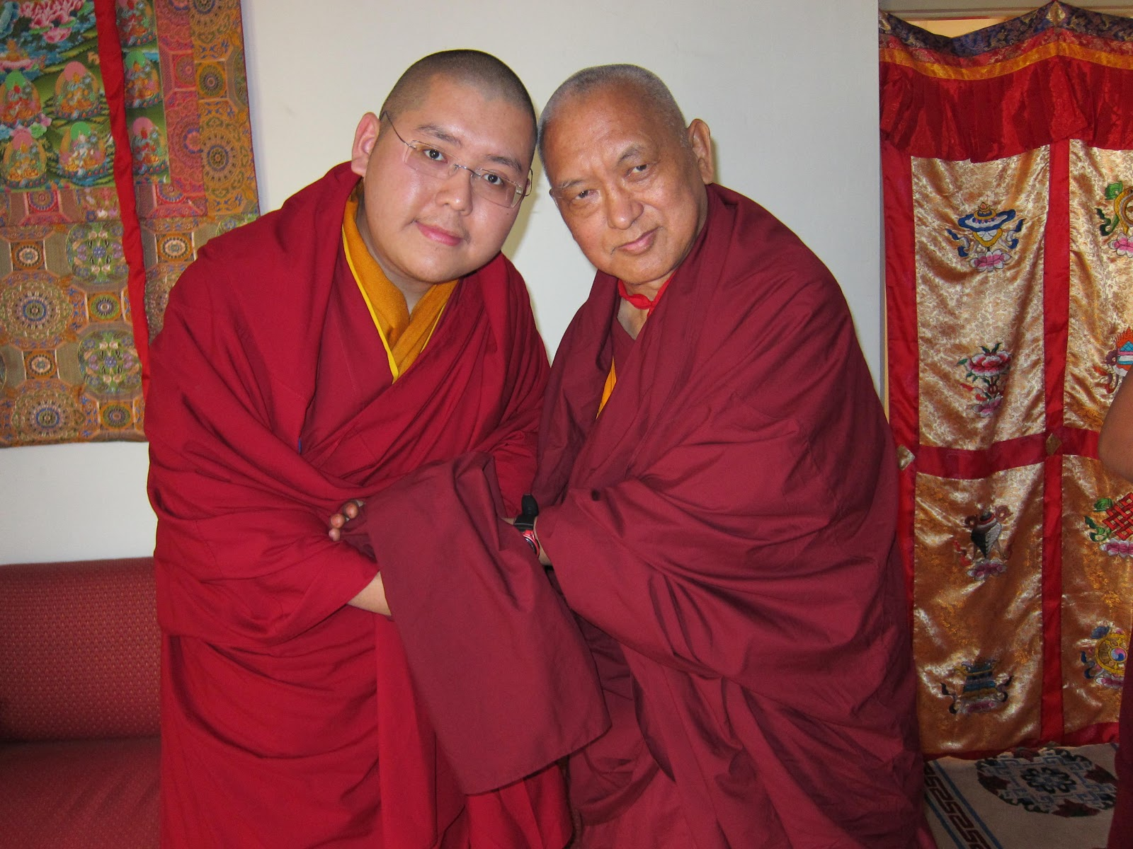 With H.E. Ling Rinpoche