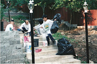 1997 - Building Uphill Stairway to Niet Ban shrine 4