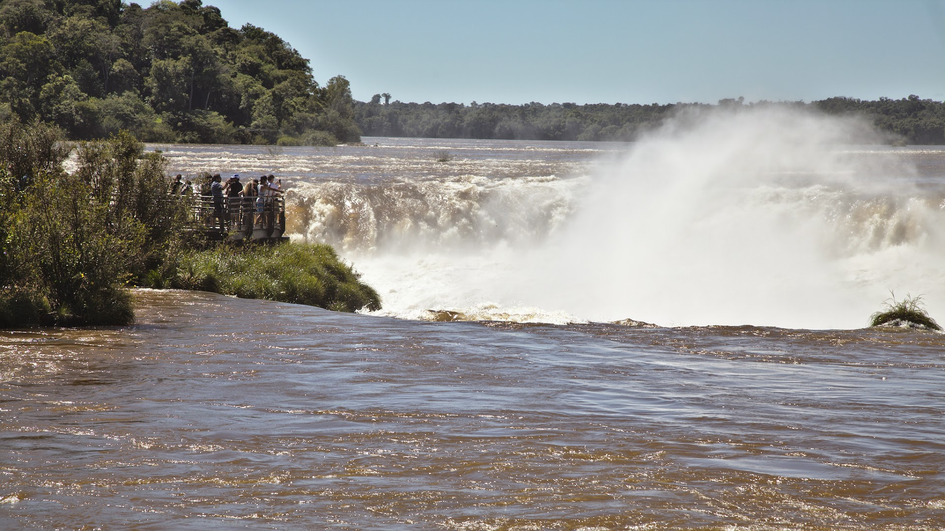 First glimpse of Iguazu falls, actually from Argentine side :-)