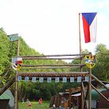 Strážní věž & táborová brána & stožár na vlajku