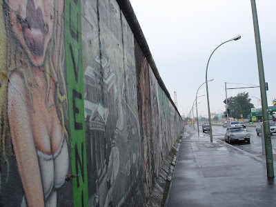 All remaining parts of the Berlin Wall are painted with the support of the government