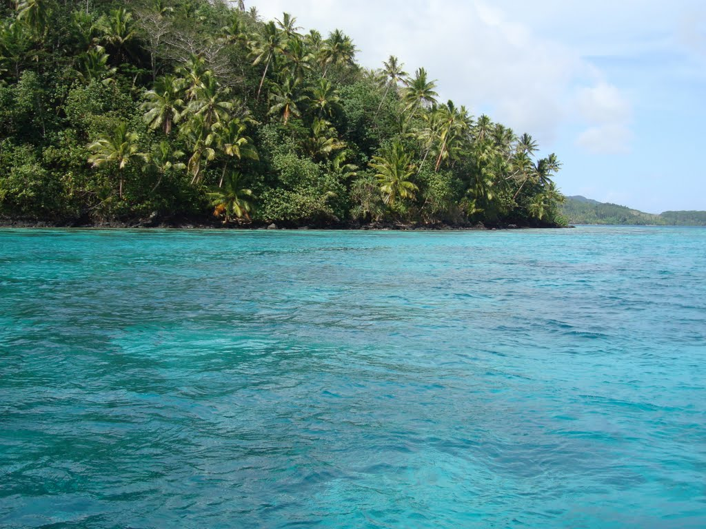 The island ajacent to where we snorkeled