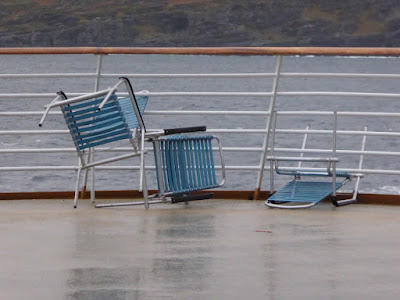 The chairs were trying to escape the storm