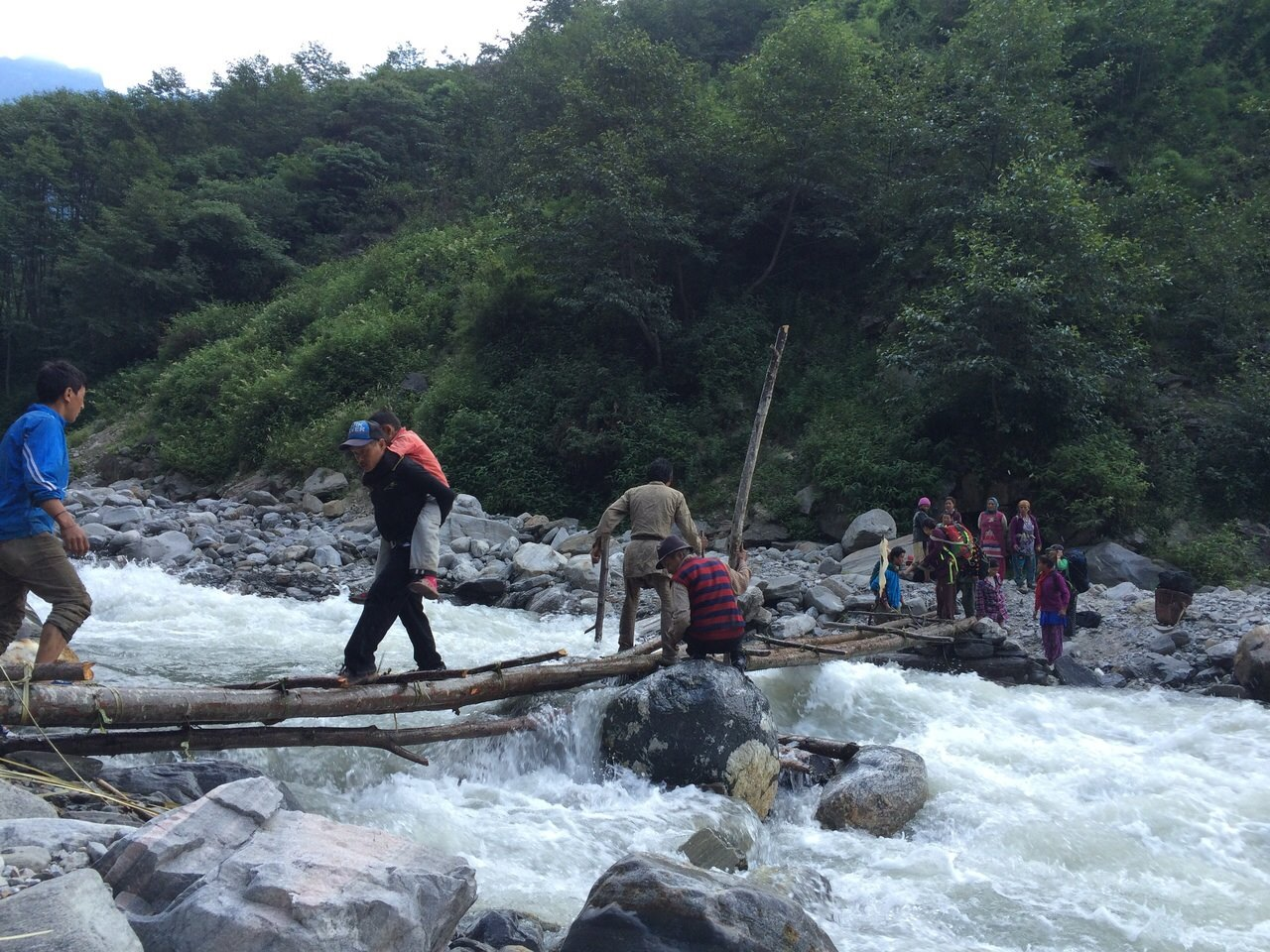 Villagers often made long difficult journeys to receive the aid they need.