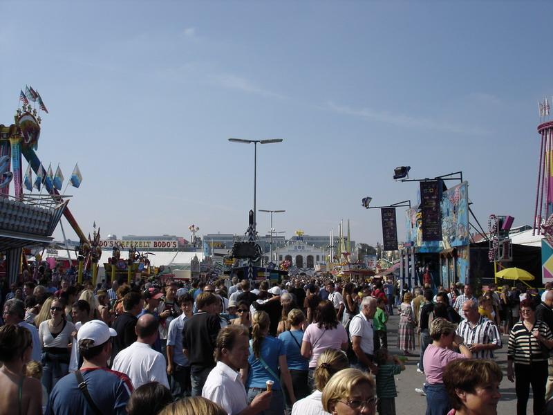 The carnival outside Oktoberfest