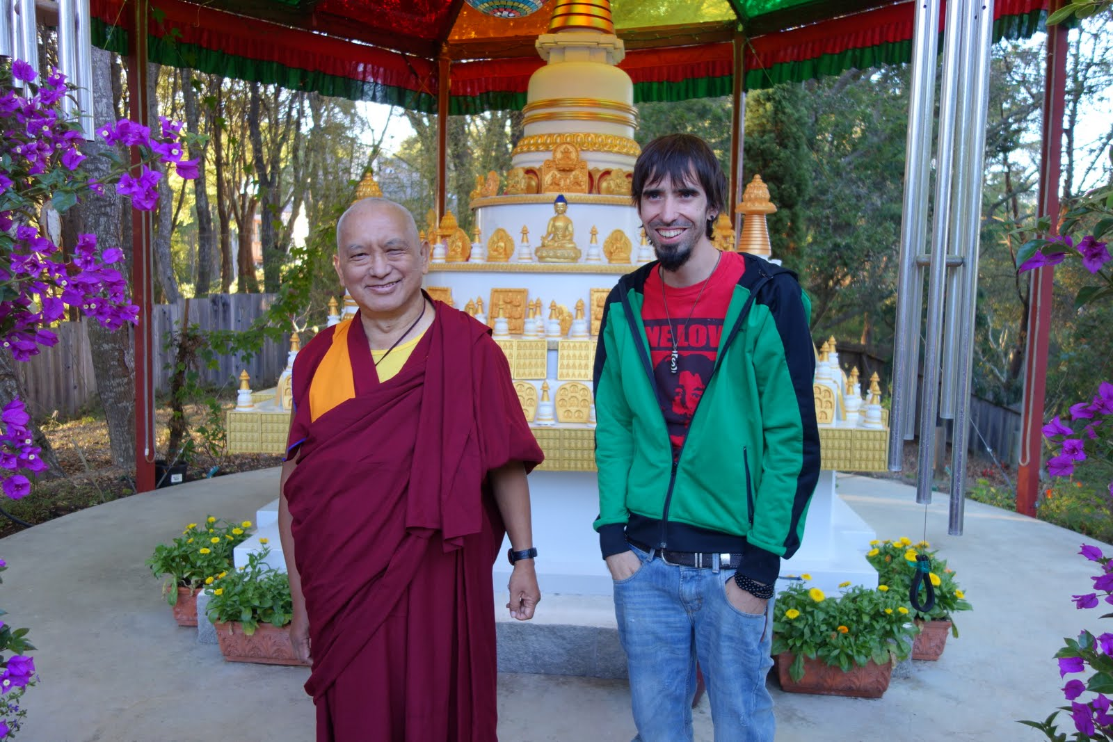 Lama Zopa Rinpoche and Tenzin Osel Hita, CA, September, 2013. Photo by Ven. Roger Kunsang