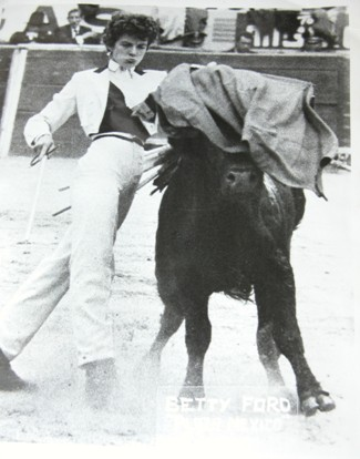 Bette Ford, Ven. Thubten Wongmo's step-mother, in Mexico. Bette Ford was an actress, model and bullfighter.