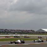 Sergio Perez leads the pack, Sauber C31