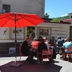 Repas sur la terrasse avec un sublime soleil !