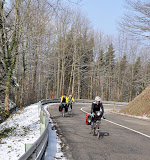 Snow in the Black Forest on the Alsace Easter tour