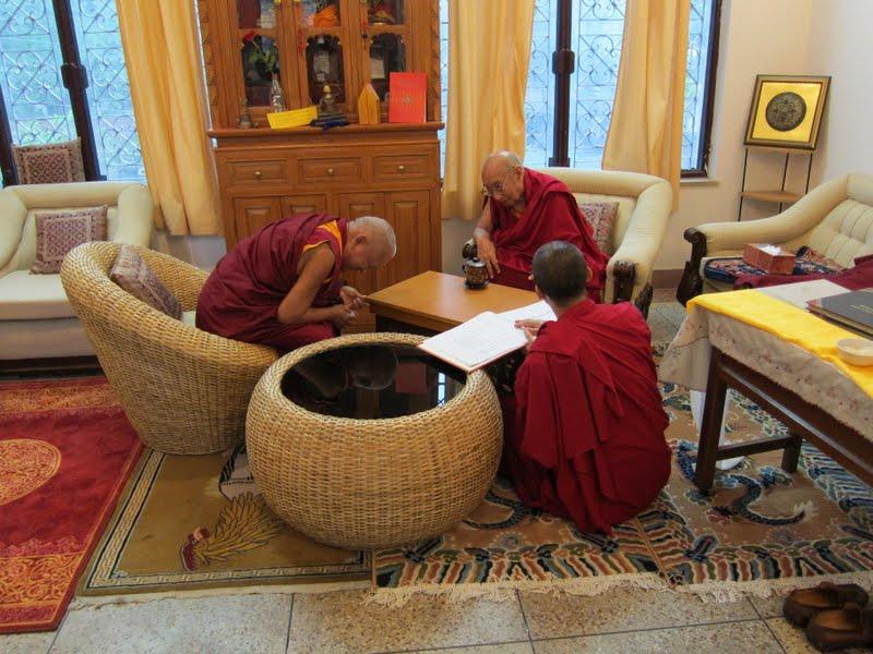 Lama Zopa Rinpoche with Dhakpa Rinpoche