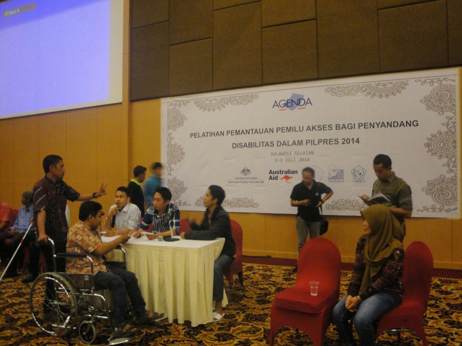 Election Simulation at South Sulawesi Observer Workshop 2-3 July 2014 (3)