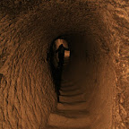 Claustrophobic tunnels that monks used to navigate