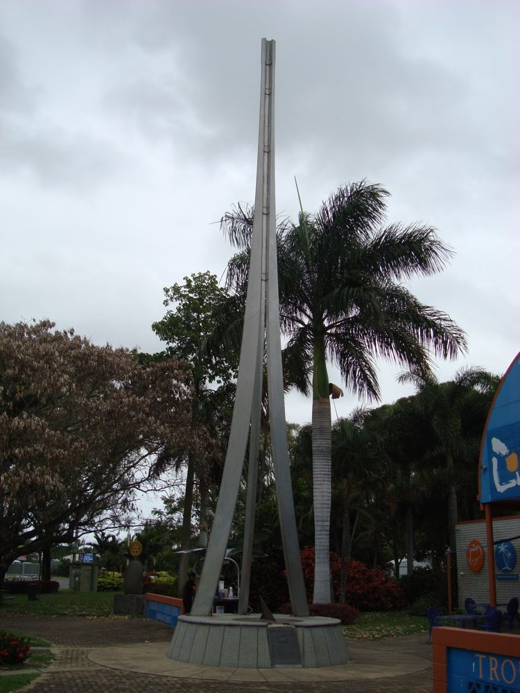 The tropic of Capricorn passes through Rockhampton. This marker indicates the latitude of the tropic