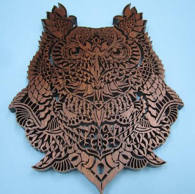 HOOTIE Ornate Owl   by Charles Hand original by  Ben Kwok of BIOWORKZ