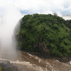 Victoria falls from the bridge