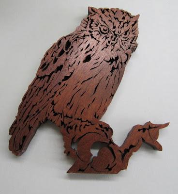 Eastern Screech Owl by Jacob Fowler  BLACK WALNUT