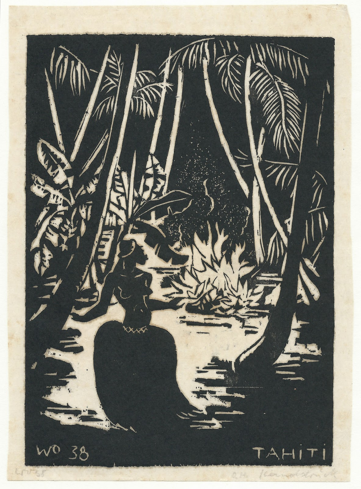 Dancer at the fire, hand print, 1938, family-owned