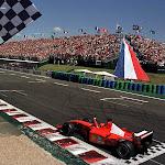 Michael Schumacher wins in his Ferrari F2001