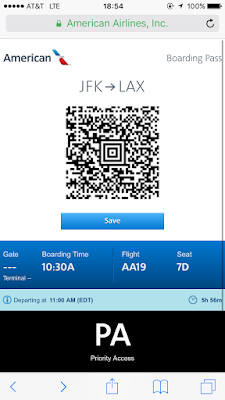 My boarding pass was on my phone