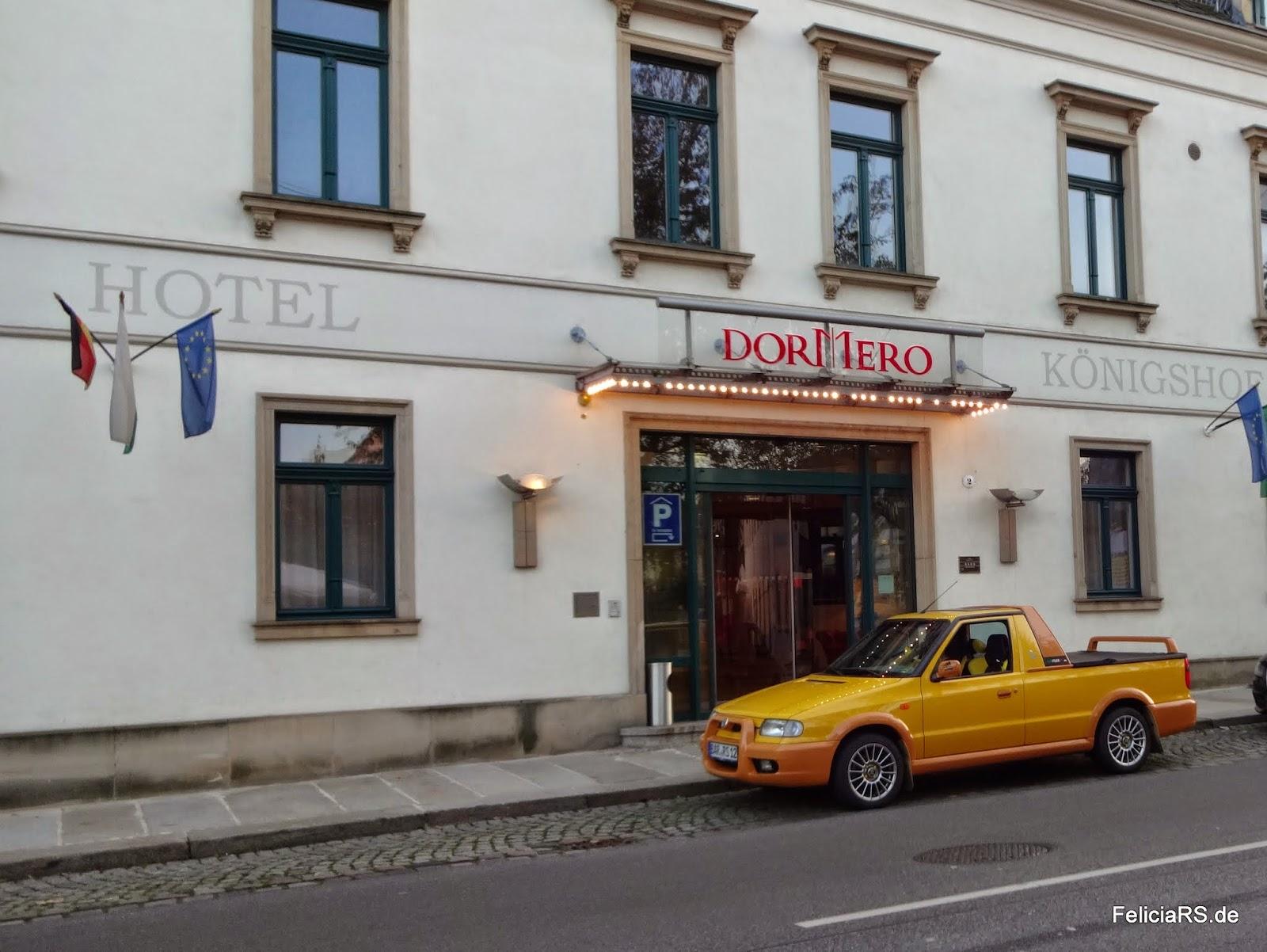 Unterkunft für die zwei Nächte in Dresden
