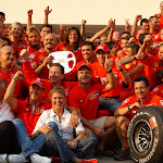Ferrari party after 1-2 finish at Hungary F1 GP