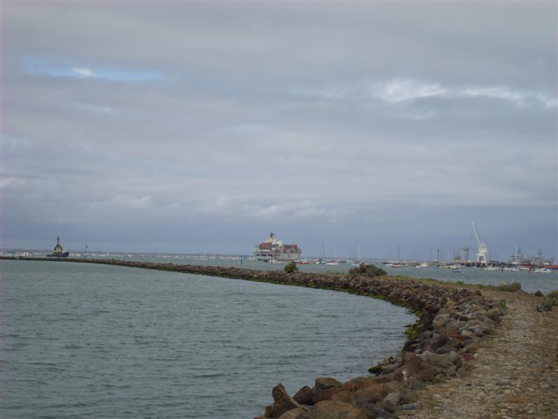 Looking at the harbour from Williamstown