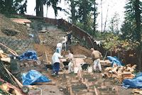 1996 - Building Uphill Stairway to Niet Ban shrine 2