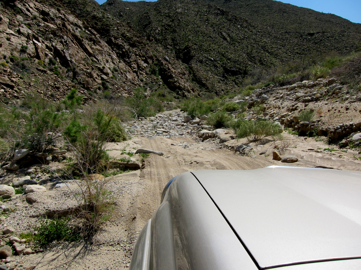 Up the Carrizo Gorge trail. 4Wd and low range required.