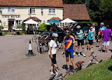 Suburban Breakout Audax 2013 - the control at Cottered
