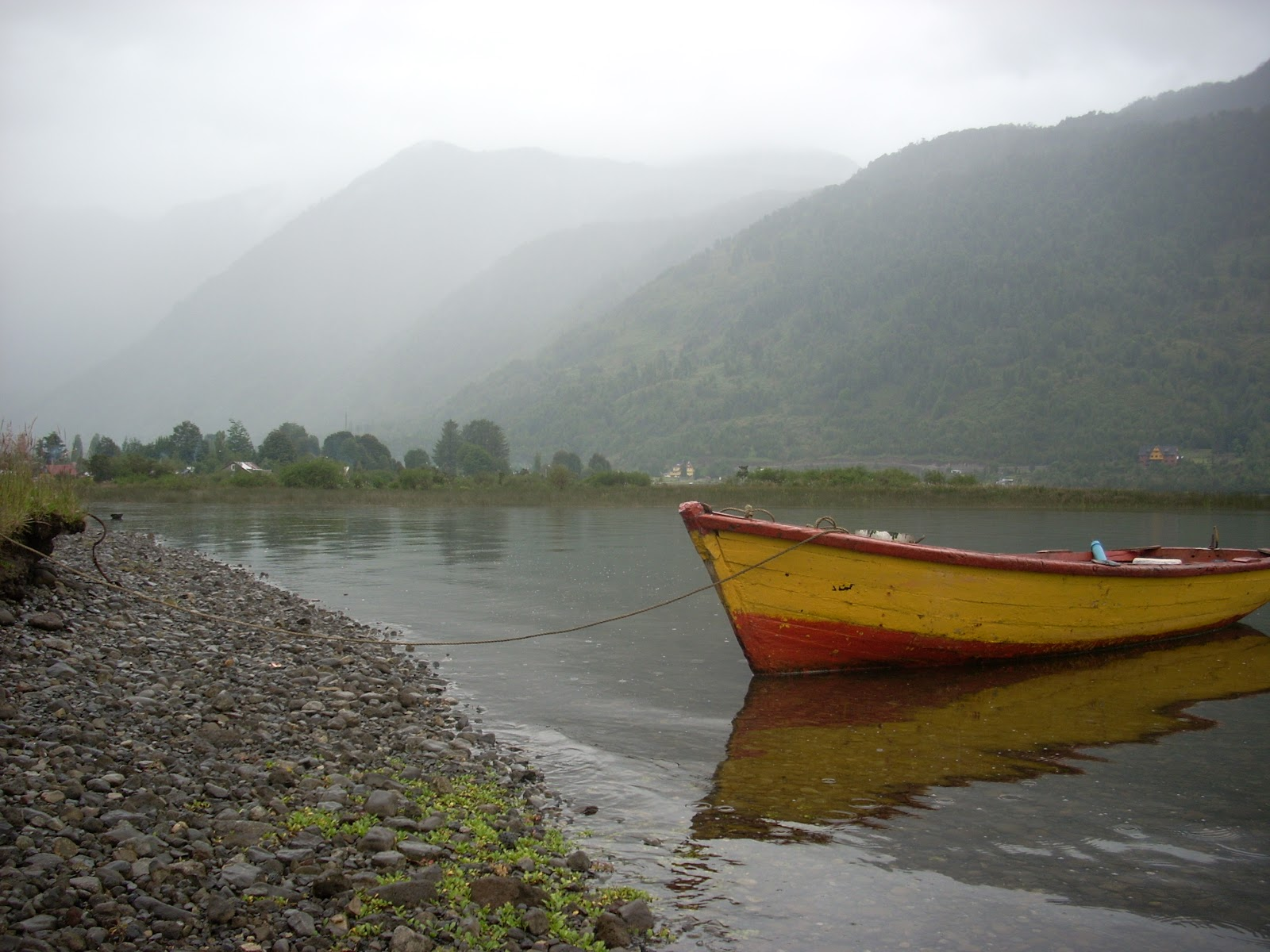 Puyuhuapi. The mist/rain is typical