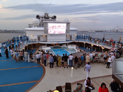The sail away party was the most nondescript of all the cruises I have done :(