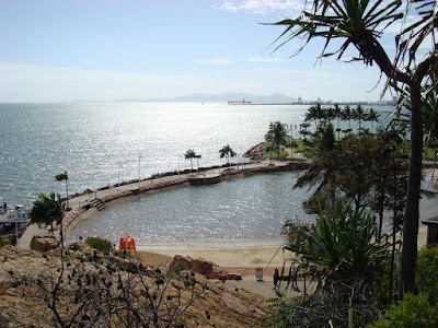 The lagoon at Townsville. Magnetic Island in the background