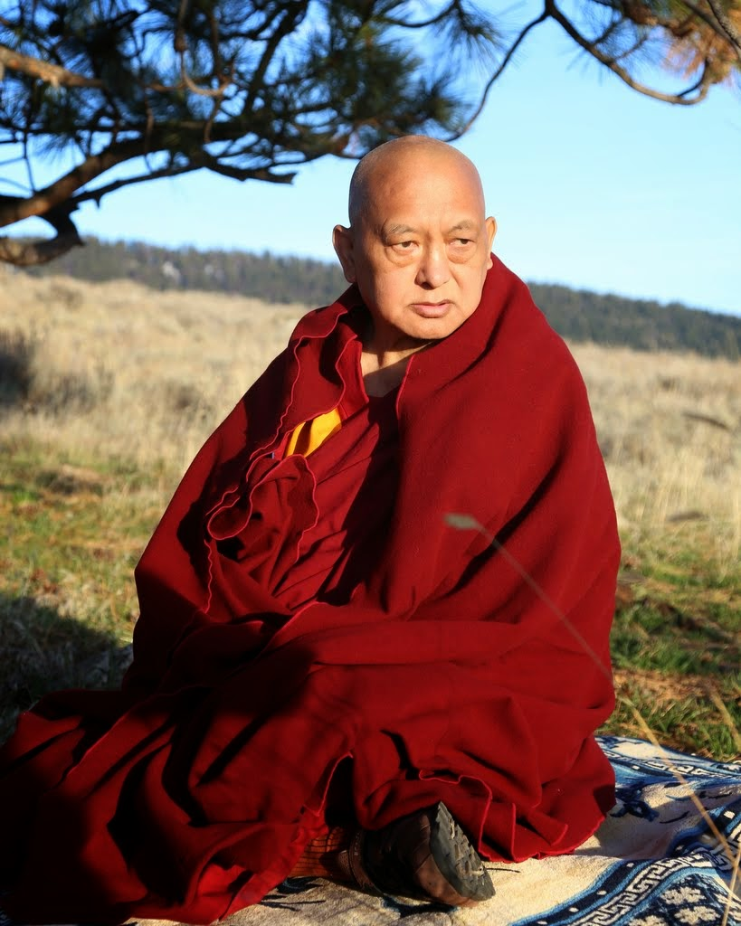 Lama Zopa Rinpoche at Buddha Amitabha Pure Land in northcentral Washington, US, April 2014. Photo by Ven. Thubten Kunsang.