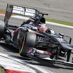 Nico Hulkenberg races the Sauber C32