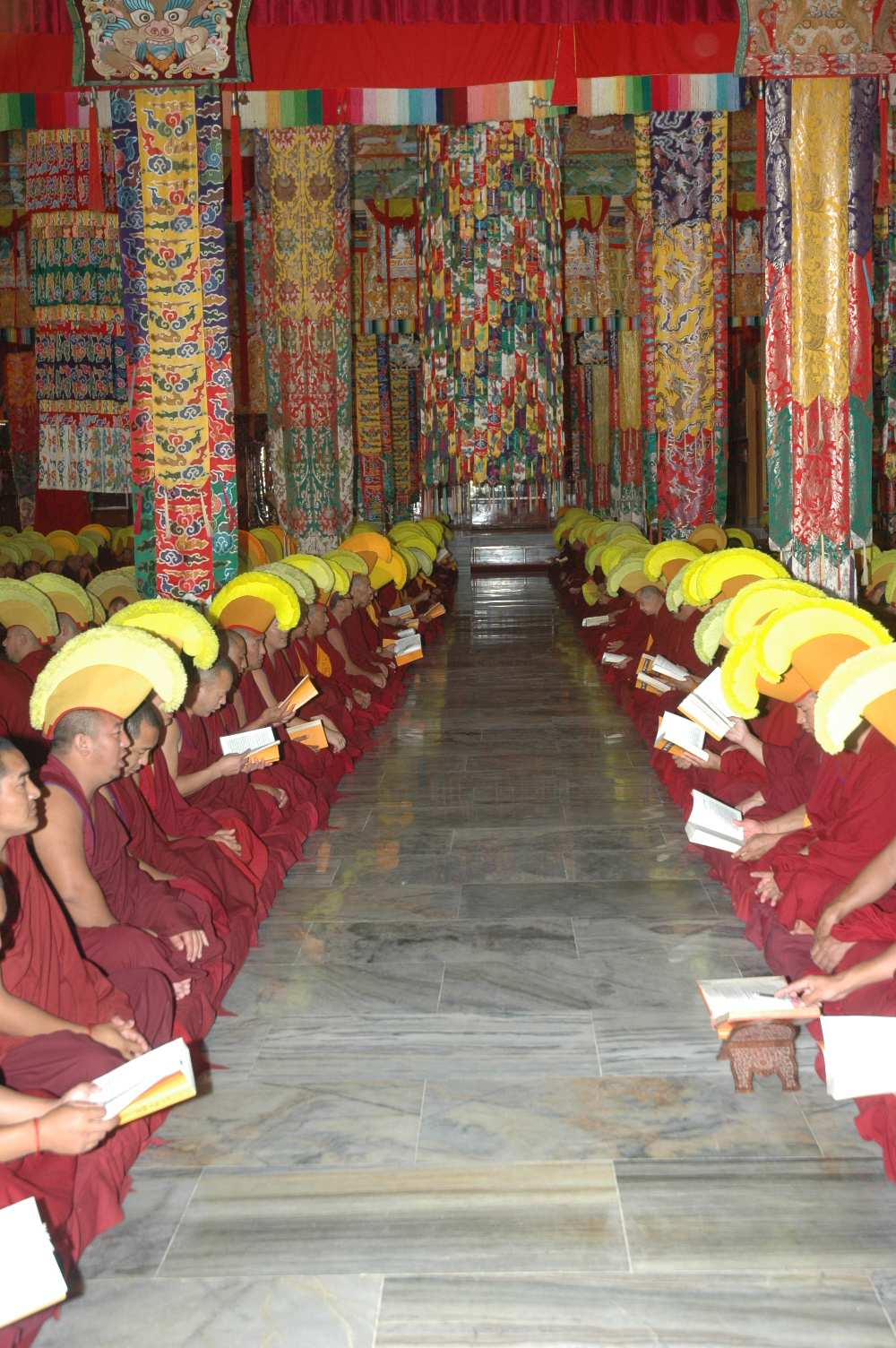 Sera Je Monastery monks performing pujas sponsored by the Puja Fund